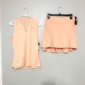 NWT Nike  Women's Golf Shirt and Golf Skirt